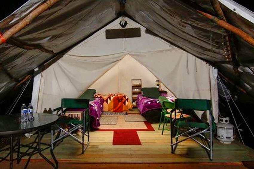 One of our glamping tents in Forks